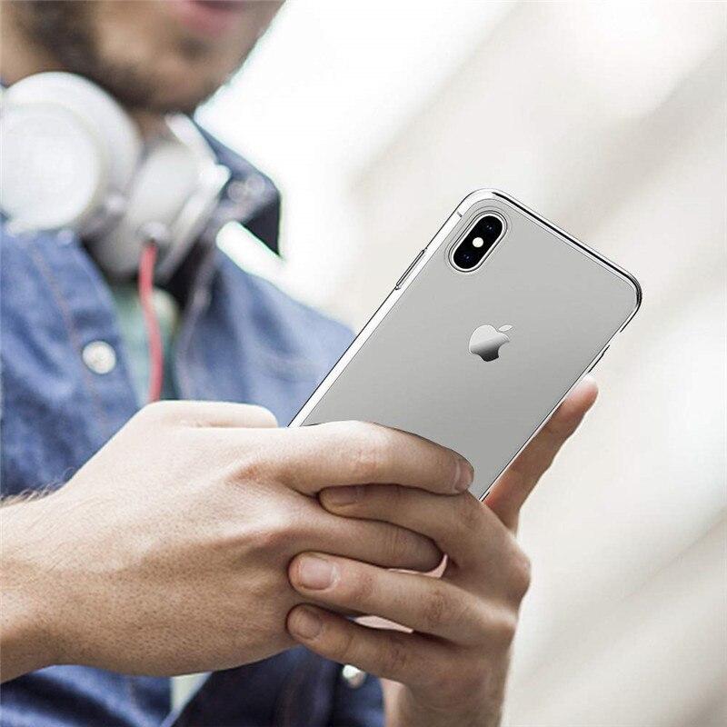 Тонкий прозрачный силиконовый чехол для iphone 11 pro max 11pro для iphone 6 6s 7 8 Plus x xr xsmax чехол для телефона для iphone 5S, se XS MAX чехол