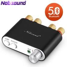 2021 lastest nobsound tpa3116 bluetooth 5.0 mini amplificador digital estéreo de alta fidelidade áudio em casa power amp receptor áudio usb dac 50w × 2
