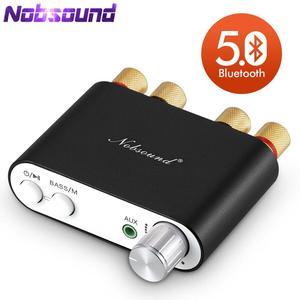 Lastest Nobsound TPA3116, мини-цифровой стереоусилитель Bluetooth 5,0, Hi-Fi, домашний аудио усилитель мощности, аудио ресивер USB DAC 50 Вт × 2, 2020