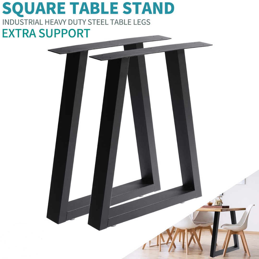 Industrial Trapezium Design Table Legs For Dining Benches Office Desks Table Legs New Furniture Feet End Table Legs 60*72cm(L*H)