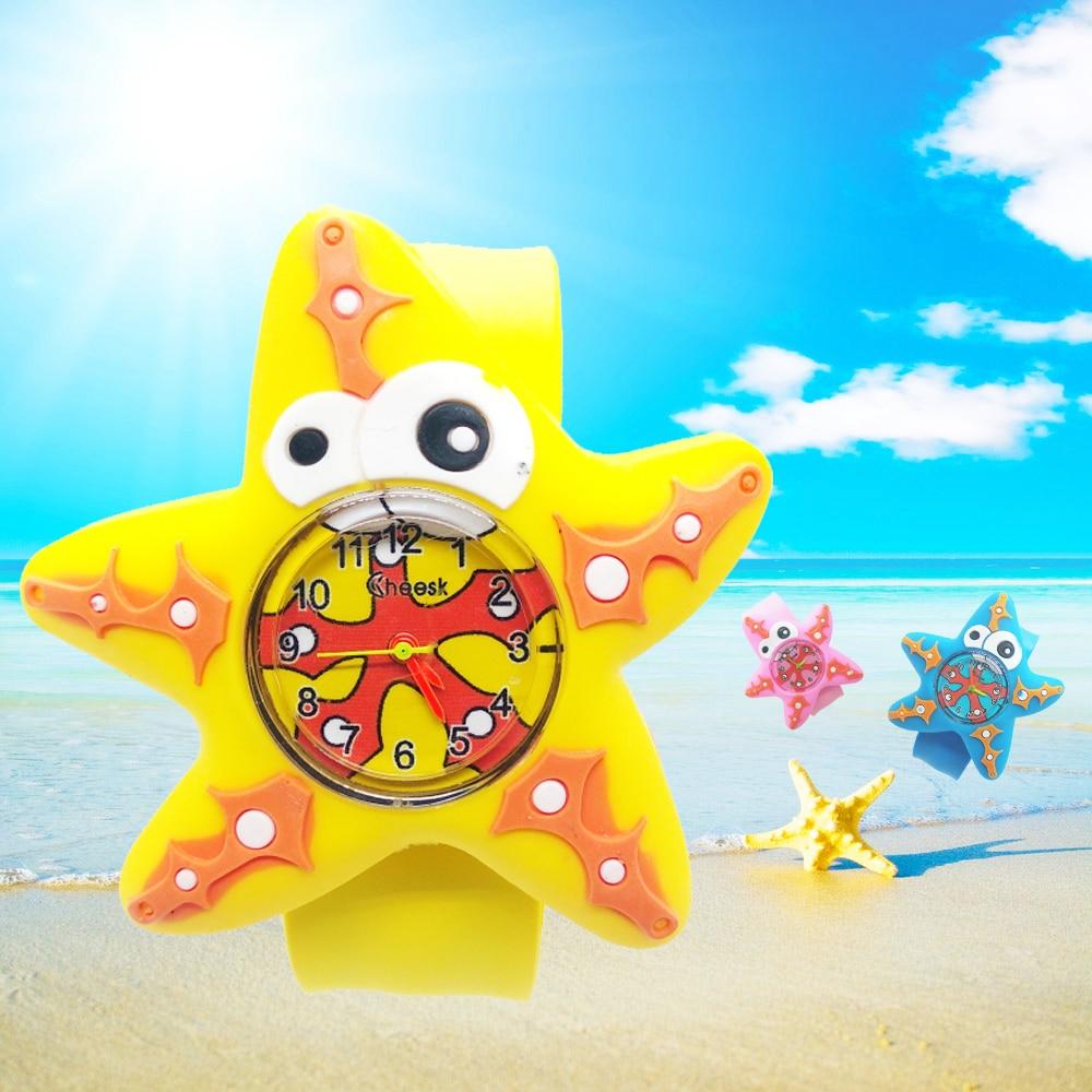 Ocean Starfish Kids Watches For Girls Baby Gift Cartoon Flower Watch For Children Boys Toys Clock Child Quartz Wristwatches #D1