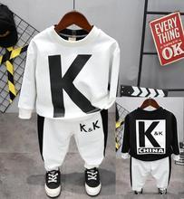 어린이 봄과 가을 의류 키즈 긴 티셔츠와 바지 2cs/set 캐주얼 소년 패션 세트 2 6 년