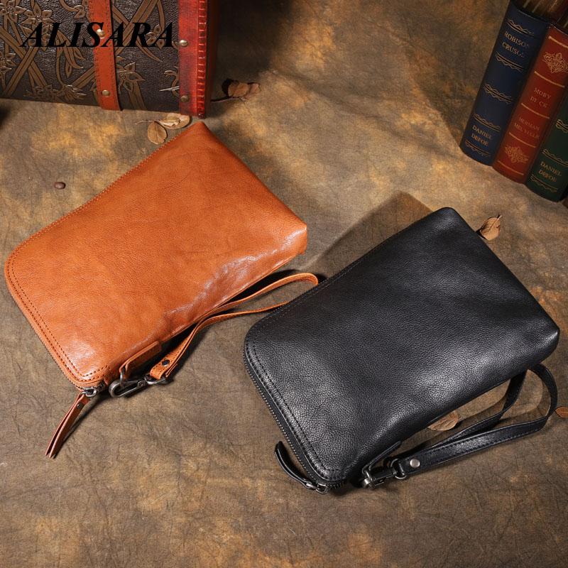 Alisara Men Small Single Shoulder Bag Mini Retro Style Mobile Phone Casual Crossbody Bags For Women Pouch Travel Wallet Handbag