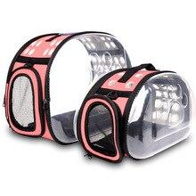 Portable Travel Pet Bag Outdoor Puppy Dog Cat Carrier Bags Shoulder Package Handbag Foldable EVA Material Soft Pets
