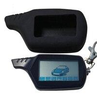 2-weg B6 LCD Fernbedienung Schlüssel + Silikon Fall für Russische Fahrzeug Sicherheit Zwei Weg Auto Alarm System starline B6 Keychain