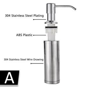 Image 5 - מטבח סבון dispenser משאבת 304 נירוסטה בקבוק נחושת ראש מטבח כיור נוזל סבון מכשירי יד