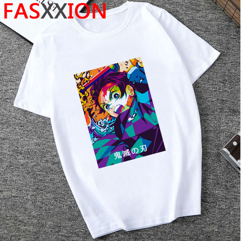 Hcef976aa889e43abba68aae183c724b5r - Demon Slayer T-shirt  Graphic Tees Men Streetwear  Japanese Anime Cool Tshirt Funny Cartoon Kimetsu No Yaiba T Shirt Male