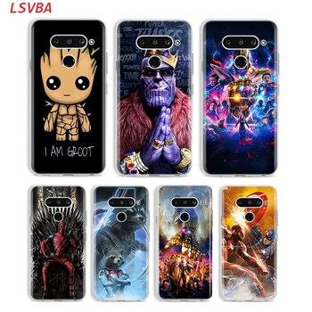 Перейти на Алиэкспресс и купить Чехол для телефона с милыми Мстителями Marvel Groot для LG W20 W10 V50S V50 V40 V30 K50S K40S K30 K20 Q60 Q8 Q7 Q6 G8 G7 G6 ThinQ