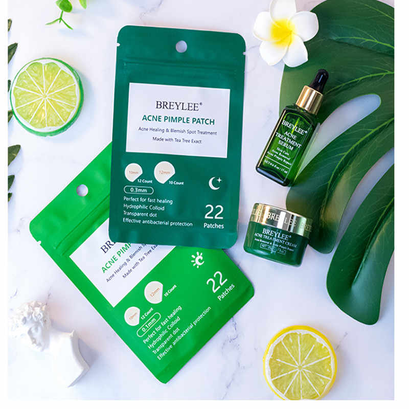 BREYLEE Skin Care Facial Mask  Acne Pimple Patch Acne Treatment Stickers Pimple Remover Tool Blemish Spot Waterproof 22 Patches