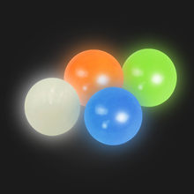 1 pçs fluorescente pegajoso bola de parede pegajoso alvo bola descompressão brinquedo crianças presente natal frete grátis juguetes luminosos