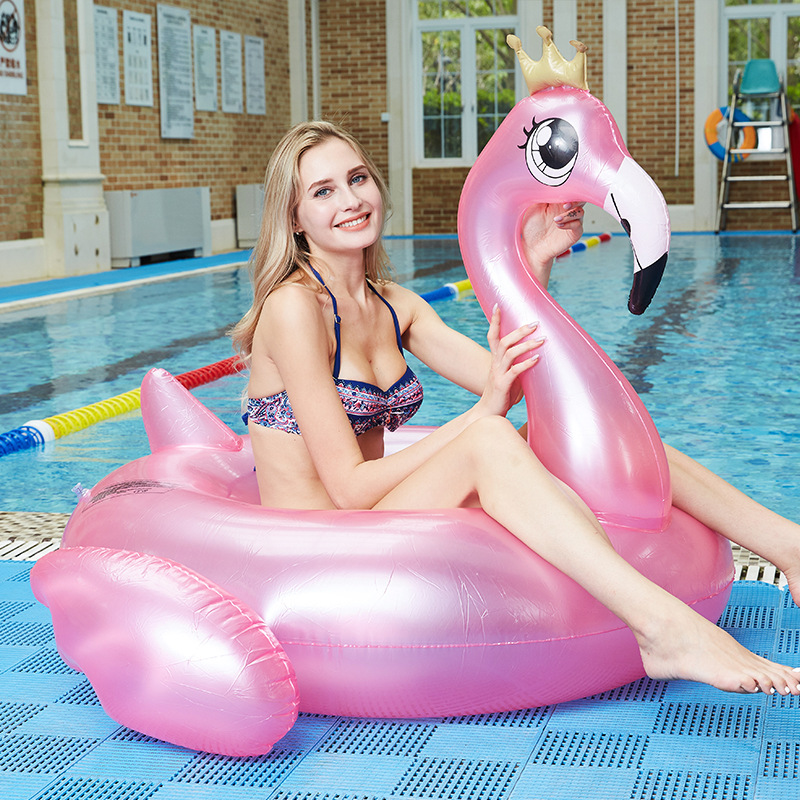 Inflatable Flamingo Swimming Ring Adults Children Pool Floating Circle Water Seat Summer Beach Holiday Party Pool Toys For Woman
