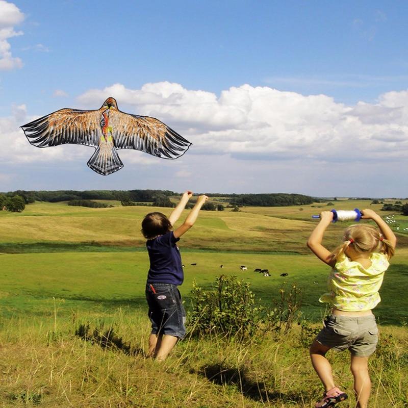Outdoor Children Flying Bird Kites Windsock Toys Garden Cloth Toys 1.1m Flat Eagle Kite Big Fly Bird Kite for Kids