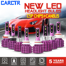 LED Headlight Bulbs for Car 9005/6 H1/3 H4 Led Lamp H7 H11/16/5202 CSP Canbus Anti-EMC Upgraded Heat Sink 6000K 50W Car Light