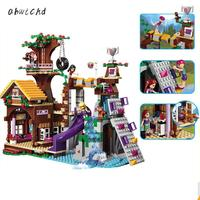 10497 739pcs Legoinglys Friends Adventure Camp Tree House Stephanie Emma Joy Girls 3 Figures Building Block Bricks Toy