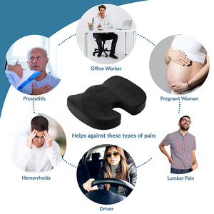 Image 5 - AUTOYOUTH Seat Cushion Pad Black Coccyx Orthopedic Seat Cushion Lumbar Support Comfort Memory Foam Pad For Chair Car Office Home
