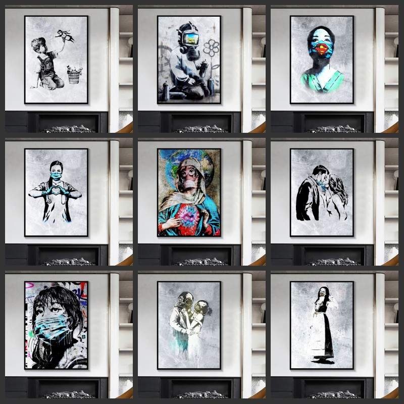 Abstract Wall Art Graffiti Paintings Printed on Canvas 17