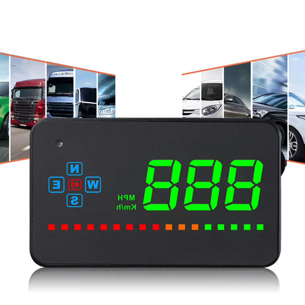 Clear Head Up Electronic Digital Convenient Car Display Save Energy Universal HUD Automatically GPS Speedometer Easy Install Pakistan