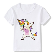 Kids Girl T Shirt Summer Baby Boy Modal Tops Toddler Tees Clothes Children Clothing Unicorn T-shirts Short Sleeve White Wear Tee jumping meters kids girl t shirt summer baby cotton tops toddler tees clothes children clothing unicorns baby girls t shirts