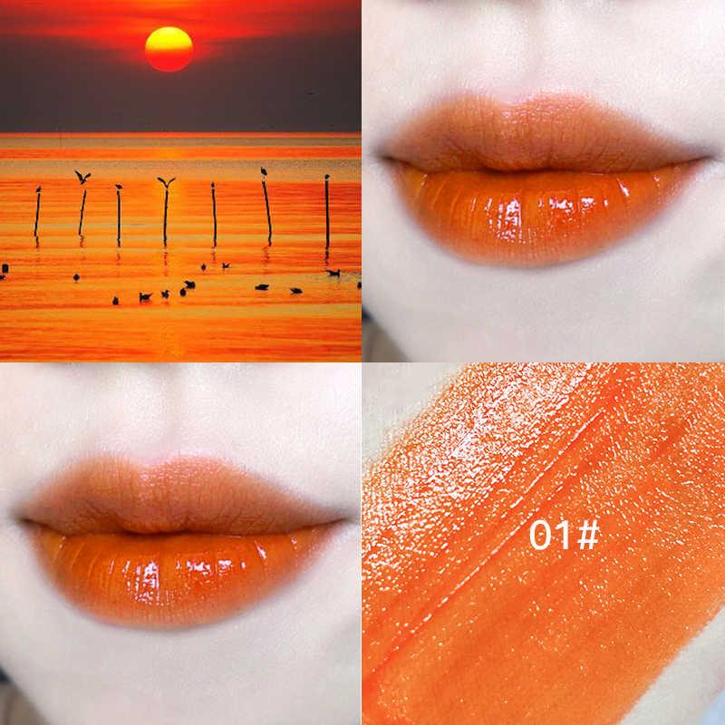 7 צבעים לחות שפתון נוזלי כוס שאינה מקל גליטר גלוס גוון צינור לאורך זמן עמיד למים ליפ גלוס איפור קוריאני