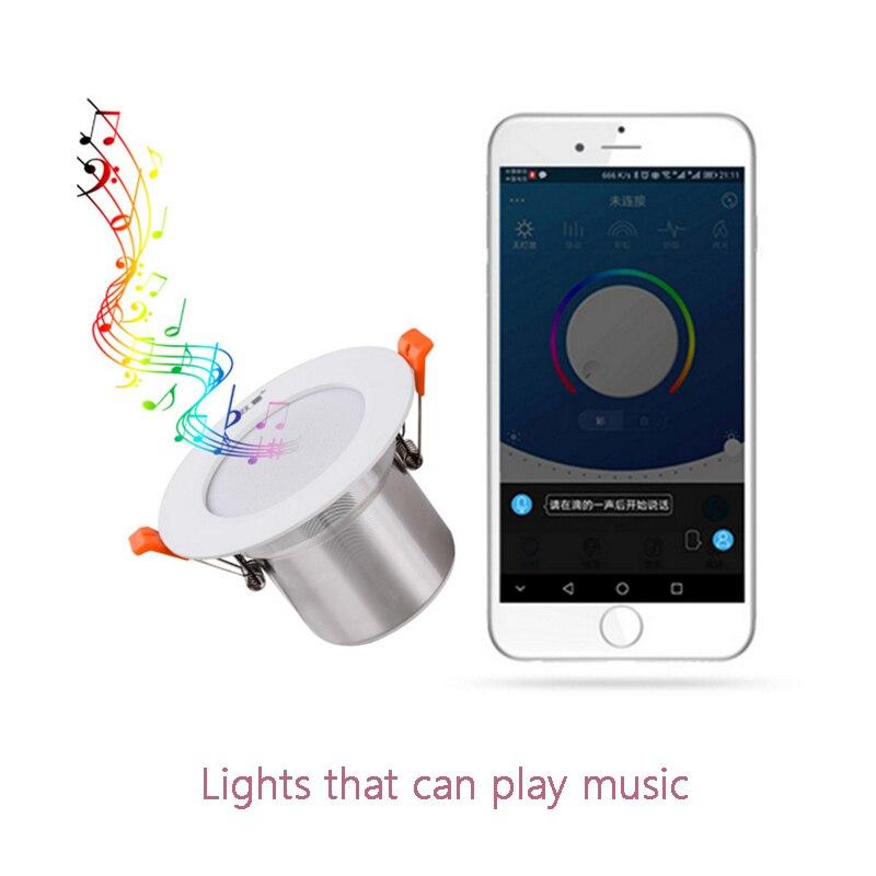 Downlight  Intelligent Bluetooth Downlight 2W RGB+ 5W White 100v-240v Is Controlled By Application Program