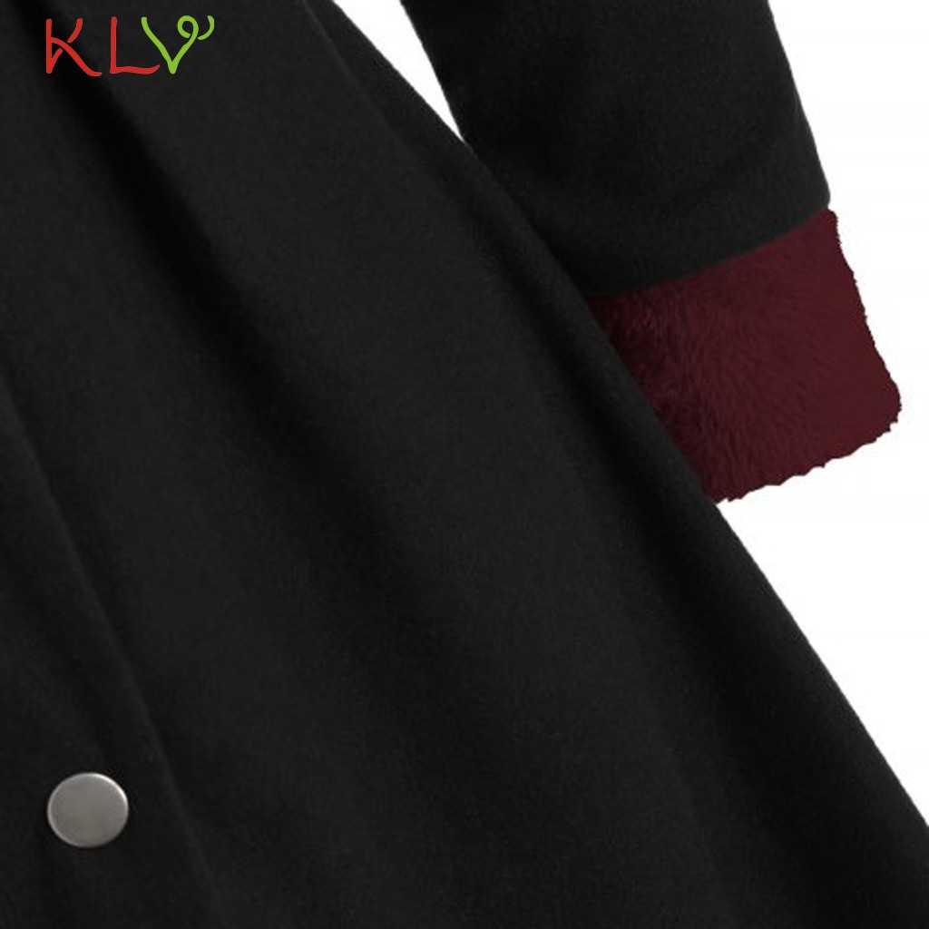 女性ジャケットフード付きマント豪華な暖かいロング冬コートボタンヴィンテージカジュアル生き抜く服プラスサイズファム 5XL 19Oct