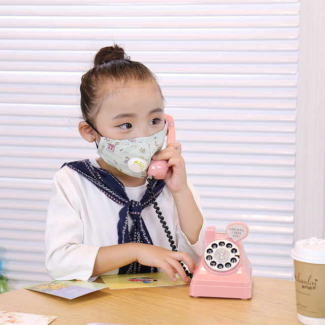 ffp3 boys and girls dustproof, anti-fog, anti-flu, anti-virus, PM2.5, warm and breathable cotton cloth with breathing valve mask 1