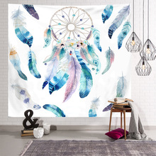 Northern Europe Wind Bedroom Decoration Tapestry Printing Mandala Plant Sketch Tarot Hanging Cloth  Psychedelic Wall Carpet