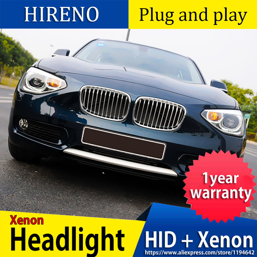 Car Styling HeadLamp for BMW 1 Series F20 2012-2015 headlight assembly DRL Lens Double Beam Bi-Xenon HID image