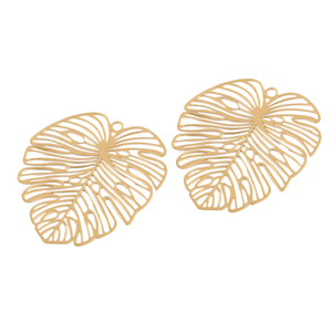 10 шт., медные Подвески в виде листьев, тропических пальмовых листьев, для самостоятельного изготовления ожерелий и сережек
