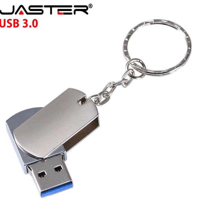 JASTER Laser Custom Metal Flip USB 3.0 Memory Stick Usb Flash Drive 128GB 64GB 16GB 32GB 4GB Pendrive Over 10 Pcs Free Logos