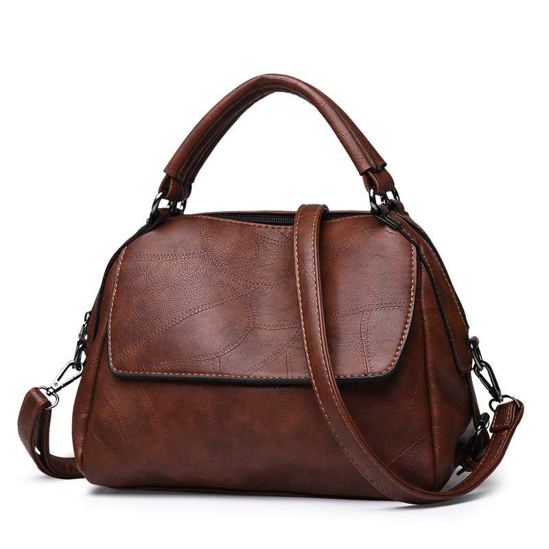 Luxury Ladies Handbags Vintage Leather Female Crossbody Bags Tote Handbag Womens Retro Sling Shoulder