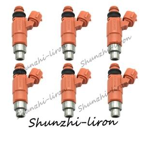 6 uds. Inyectores de combustible para Chevrolet Suzuki Dodge Chrysler Yamaha fueraborda Mitsubishi CDH210 0280155723 INP771 MD319791