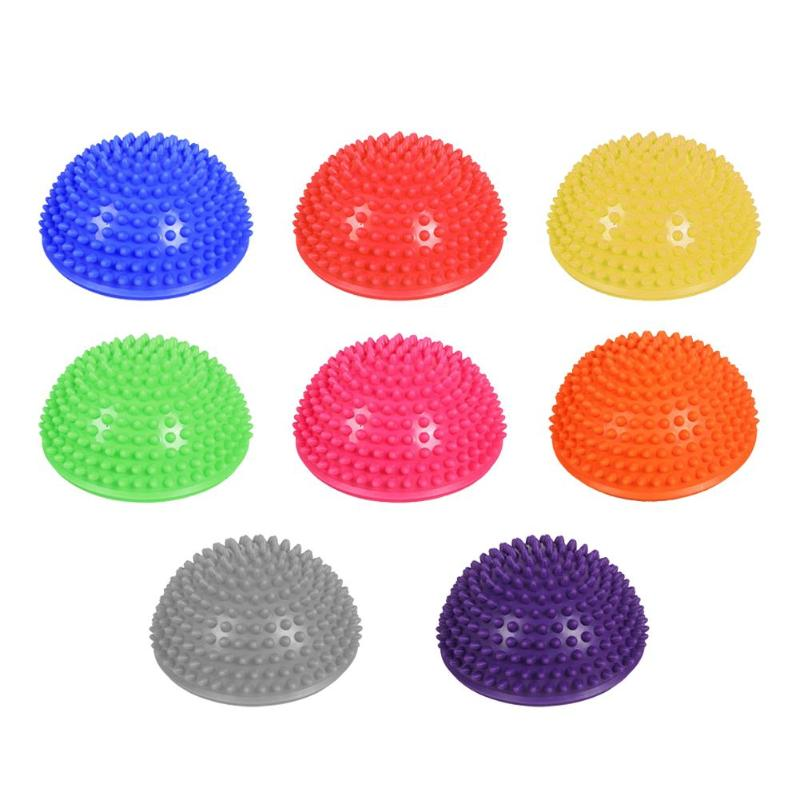 Hedgehog Sensory Inflatable Half Sphere Yoga Balls Massage Exercises Trainer Balancing Ball Gym Sport Fitness