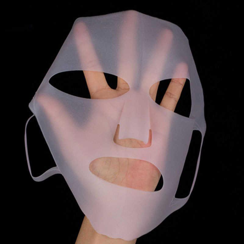 Mascarilla Facial reutilizable de silicona soporte para la cara el vapor de la cara evita la evaporación velocidad de absorción mejor mascarilla Facial hidratante