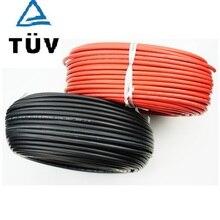 ALLMEJORES שמש PV כבל אדום blak כבל עבור פנל סולארי מערכת 1500v 4mm2 /6mm2 (12/10AWG )TUV UL אישור 10m/Roll