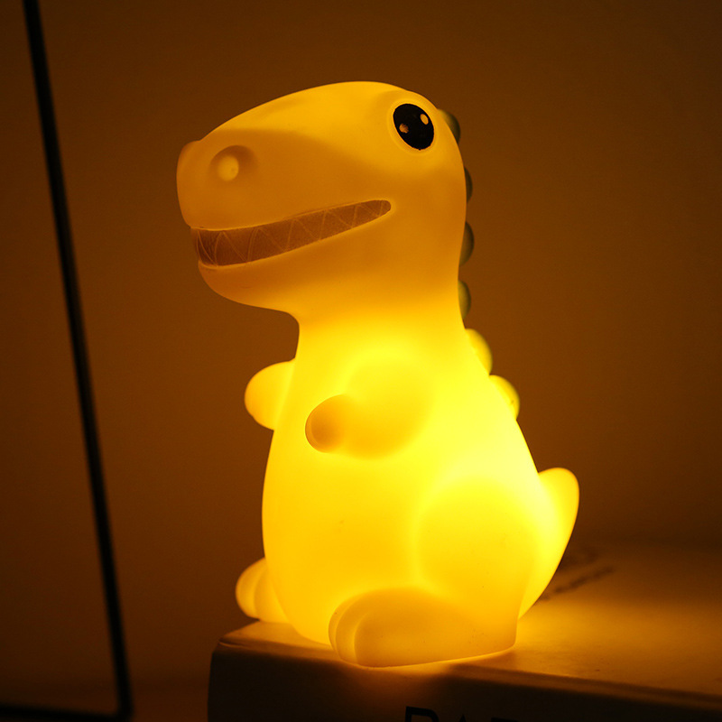 Led Dinosaur Animal Soft Night Light Small Night-light Baby Kids Lamp Decoration Home Decor Cute Colorful Furnishing Electronics