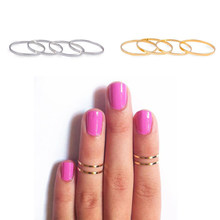 Fashion Simple Silver Gold Rose Gold Color Anti-allergy Smooth Couple Wedding Joint Ring Women Men Fashion Jewelry Party Gift(China)
