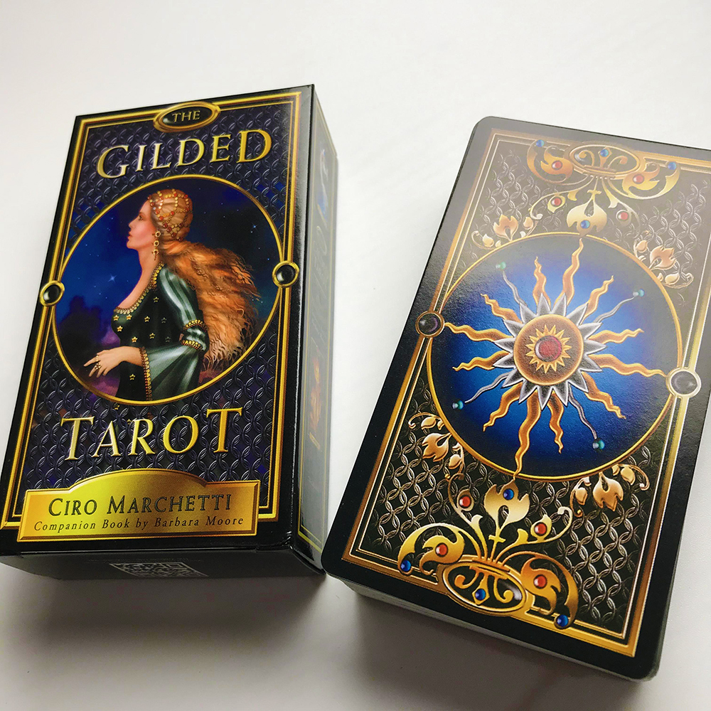 The Gilded Tarot Deck Card And Guidebook Tarot Game Toy Tarot Divination Oracles Guidance Fate Board English For Family Gift