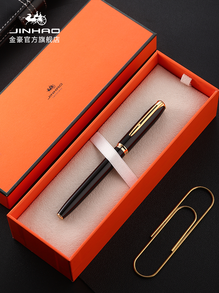 Jinhao Luxury Fountain Pen High Quality 0.38&0.5mm Office Caneta Ink Pen Business Gift Set School Supplies Calligraphy Pens