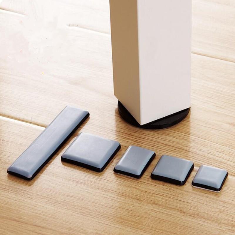 4-8pcs Rubber Slider Pad Furniture Chair Leg Feet Bases Table Corner Protector Door Close Buffer Bumper Stop Cushion Hardware