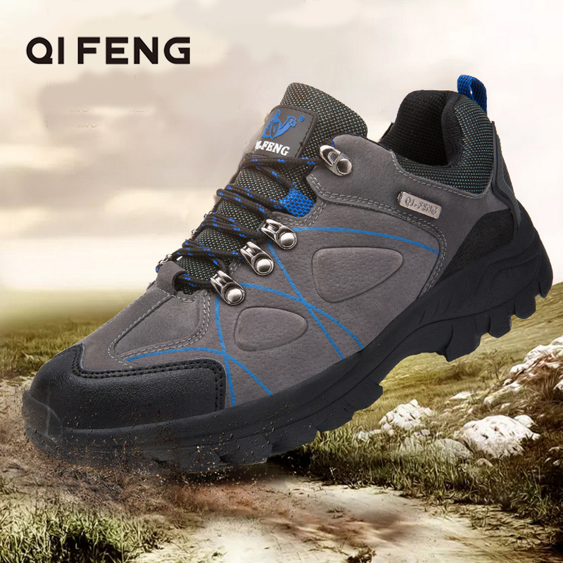 Men Outdoor Sports Trail Running Shoes Cross Country Man Sneaker Light Weight Trekking Training Classic Jogging Walking Footwear