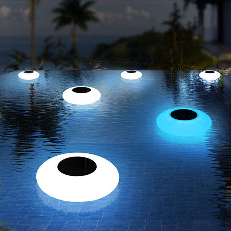 Luz conduzida solar outdoorpool lightled colorido inflável