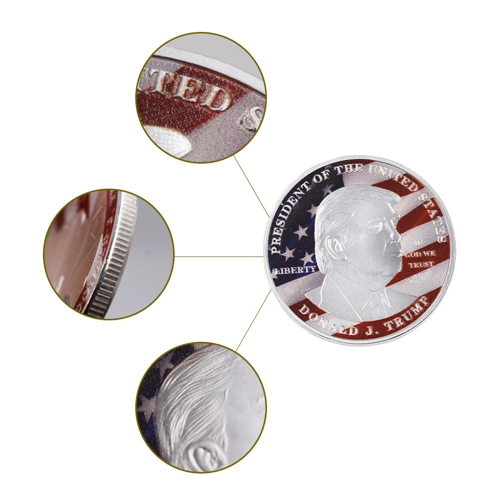 Grosir Hot Sale Donald Trump Koin Perak Koleksi Koin Logam Amerika - Dekorasi rumah - Foto 2