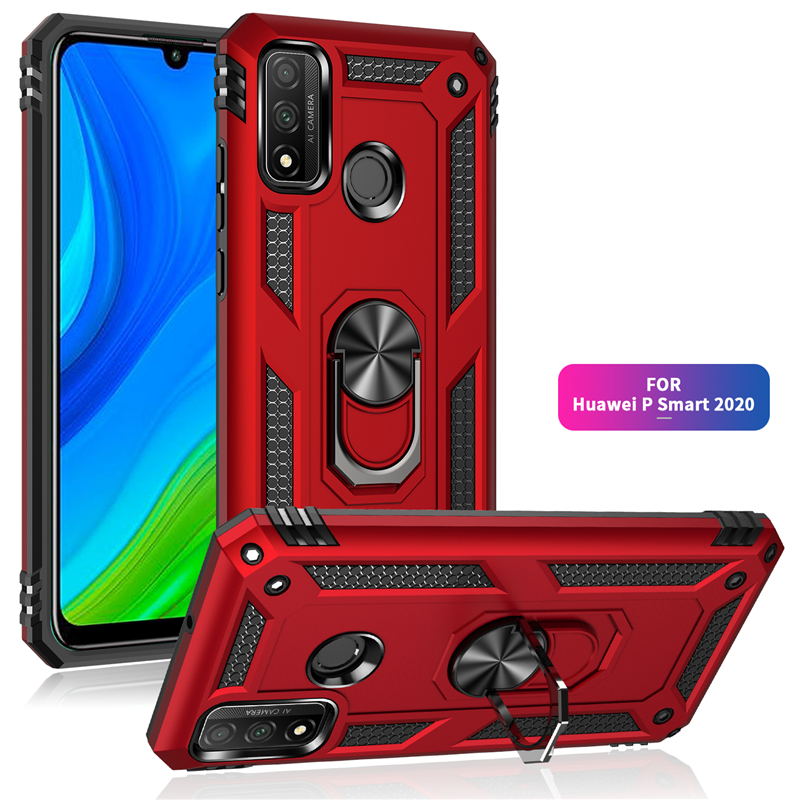 Armor Shockproof Case for Huawei P40 P30 P20 P Smart Z S Pro 2019 2020 Mate 20 X 30 Lite E 40 Pro Plus 5G Ring Car Holder Cover