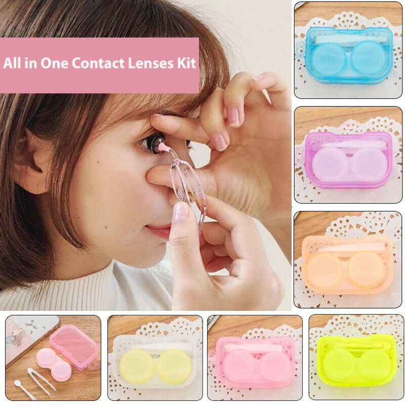 Contact Lenses Kit Contact Lens Case For Eyes Care All In One Kit Holder Contain