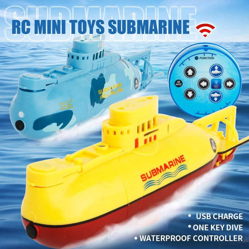RC Submarine Speed Boat Remote Control Drone Pigboat Simulation Model Toy Kids