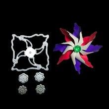 Металлические высекальные штампы в форме цветка 3d ветряная