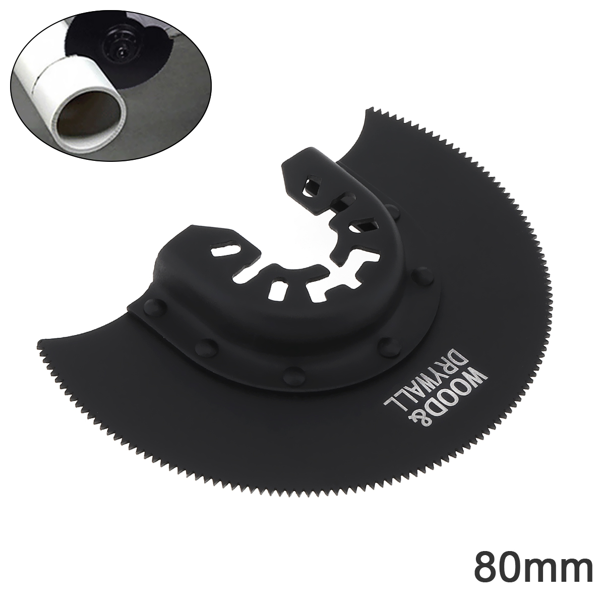 80mm Black 65 Manganese Steel Saw Blade Power Tool Accessories With Sharp Tooth Fit For Wood Cutting / Sheet Grinding