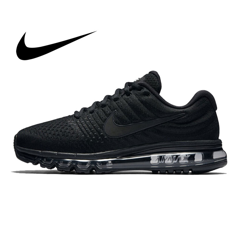 Original Authentic NIKE Air Max 2017 Men's Running Shoes Breathable Sport Outdoor Sneakers Athletic Designer Footwear 849559-004