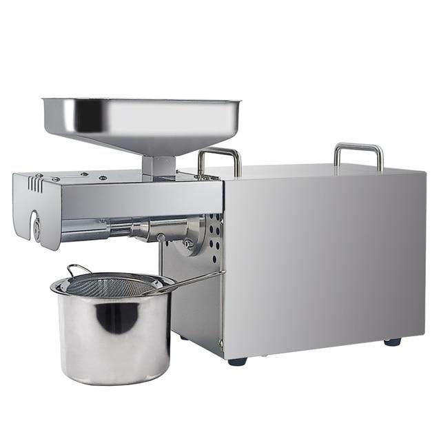 Automatic oil cold press machine high oil extraction rate oil extractor temperature control peanut coconut etc Oil Press Machine 1
